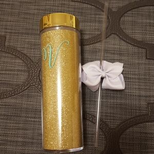 Other - 3 for $20 - Monogrammed Water Bottle with Straw